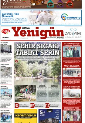 Konya Yenigün Gazetesi - 06.07.2020 Manşeti